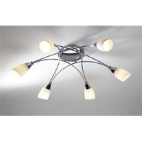 Bureau 6-Light Semi Flush Opal Glass