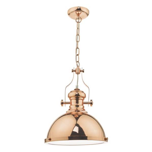 Dar Arona 1-Light Pendant with Glass Diffuser
