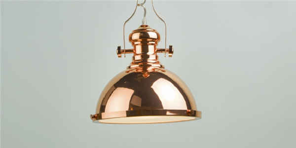 Dar Arona One-Light Pendant in Copper