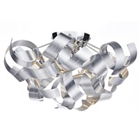 Rawley 4-Light Flush Mount Twirling Ribbon