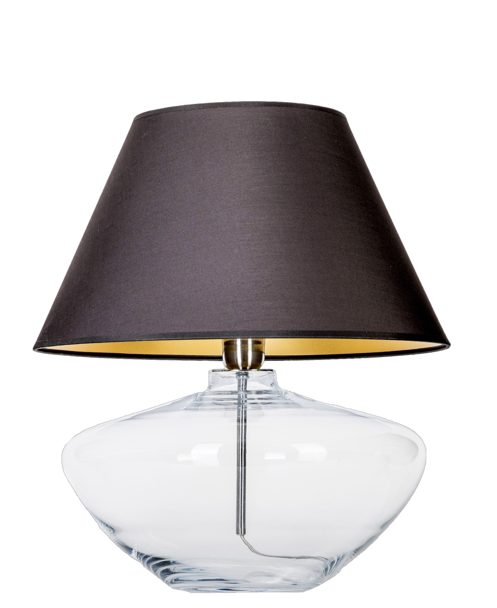 Picture of: 4 Concepts Madrid Clear Glass Table Lamp Black Gold