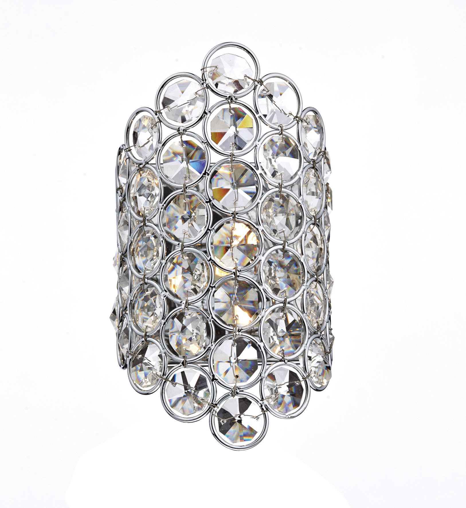 Dar Frost 1 Light Wall Bracket With Polished Chrome Crystal